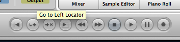 Logic Pro Transport Bar Locator Buttons