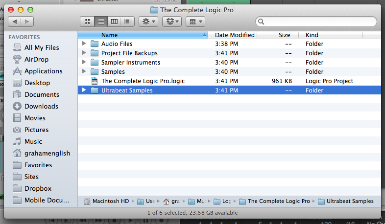 Logic Pro Project Folder