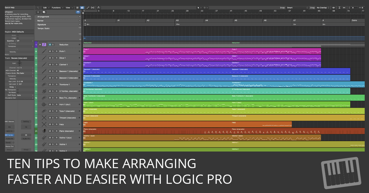 10 Tips For Faster And Easier Arranging With Logic Pro