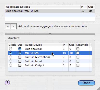 Aggregate Device Editor
