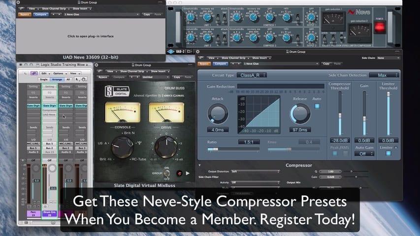 Logic Pro Compressor - ClassicA_R vs Neve 33609