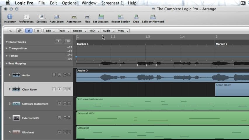 The Logic Pro Arrange Window Part 5 - Local Menus Through Screensets