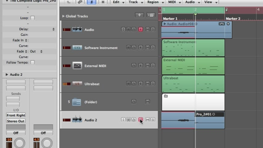 Recording Audio Part 2 - Recording a Single Take Through Multitrack Recording