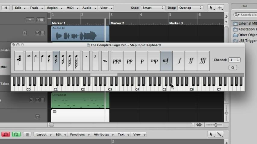 Recording MIDI - Recording a Single MIDI Take Through Using the Caps Lock Keyboard