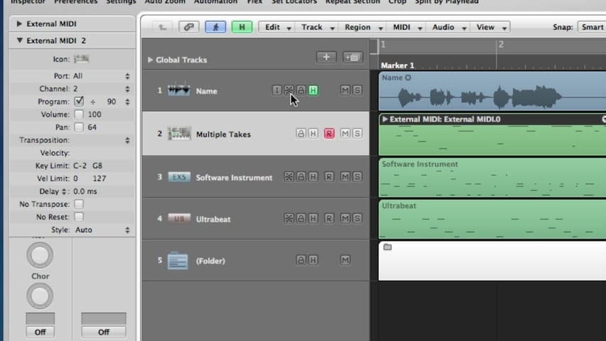 Logic Pro Tracks and Channel Strips Part 2 - Deleting Tracks Through Bounce In Place
