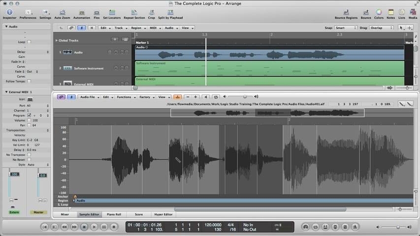 Logic Pro Audio Editing Part 3 - The Sample Editor