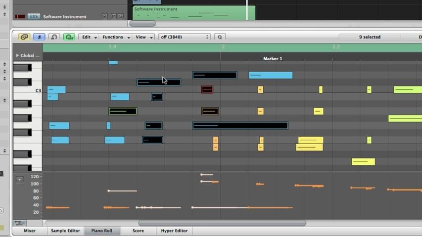 midi piano roll editor