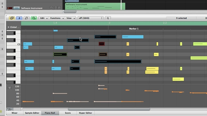 Logic Pro MIDI Editing Part 1 - The Piano Roll Editor