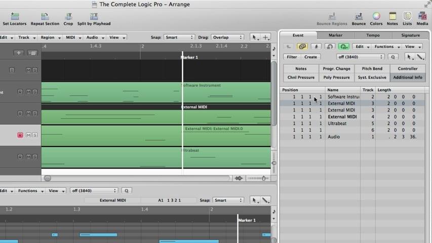 Logic Pro MIDI Editing Part 2 - The Event List