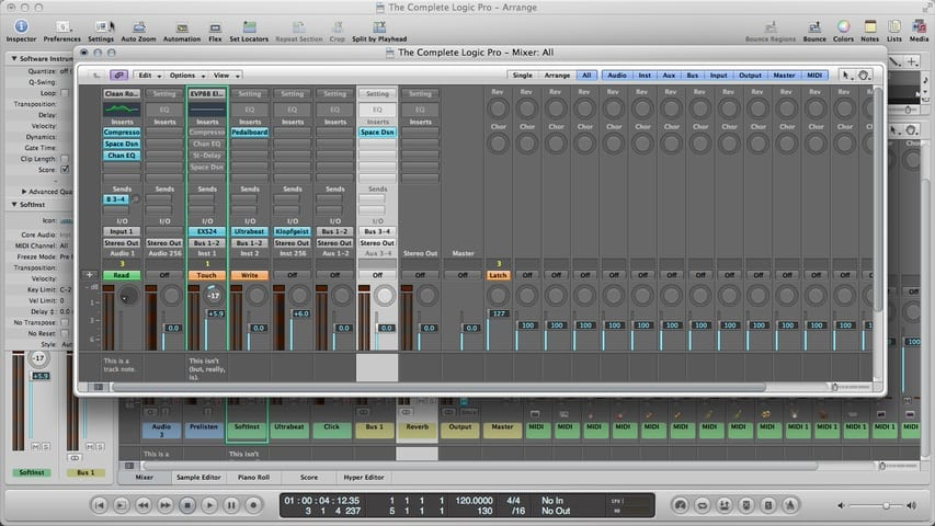 Logic Pro Mixing Part 1 - Channel Strip Types and Controls