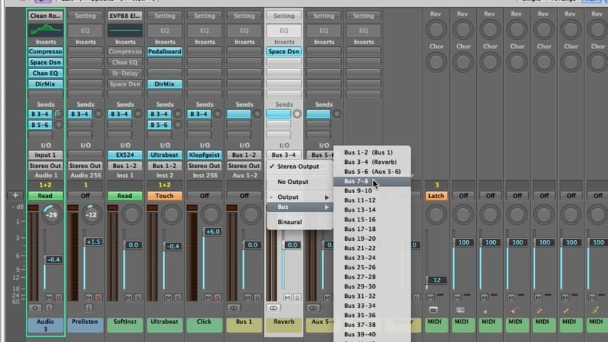 Logic Pro Mixing Part 3 - Using Effects Through IO Labels
