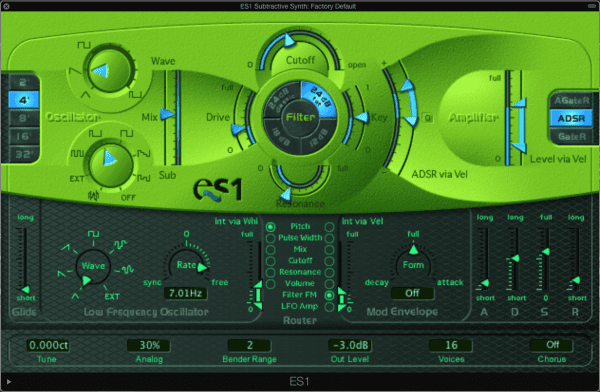 ES1 Subtractive Synth