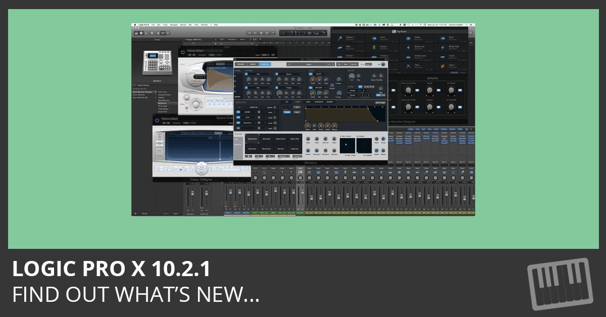 Logic Pro X 10.2.1 Update