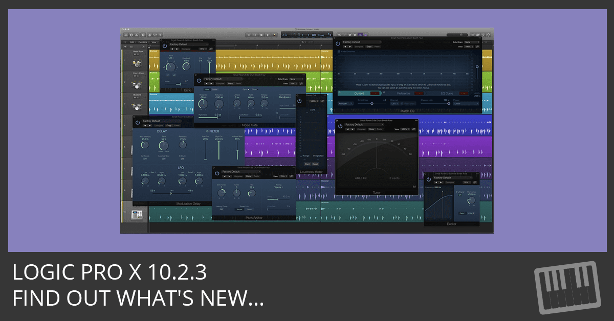 Logic Pro X 10 2 3 Update - Logic Studio Training