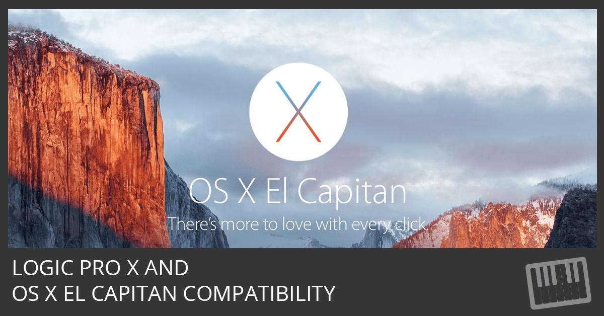 Logic Pro X and El Capitan