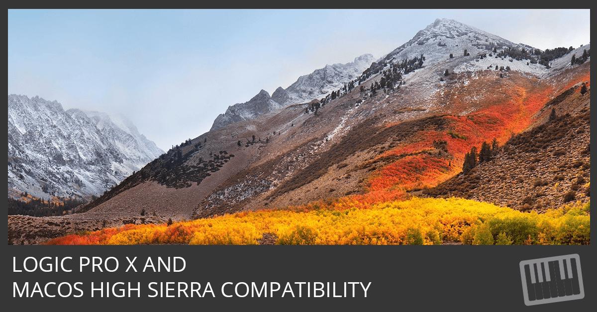 Logic Pro X and macOS High Sierra