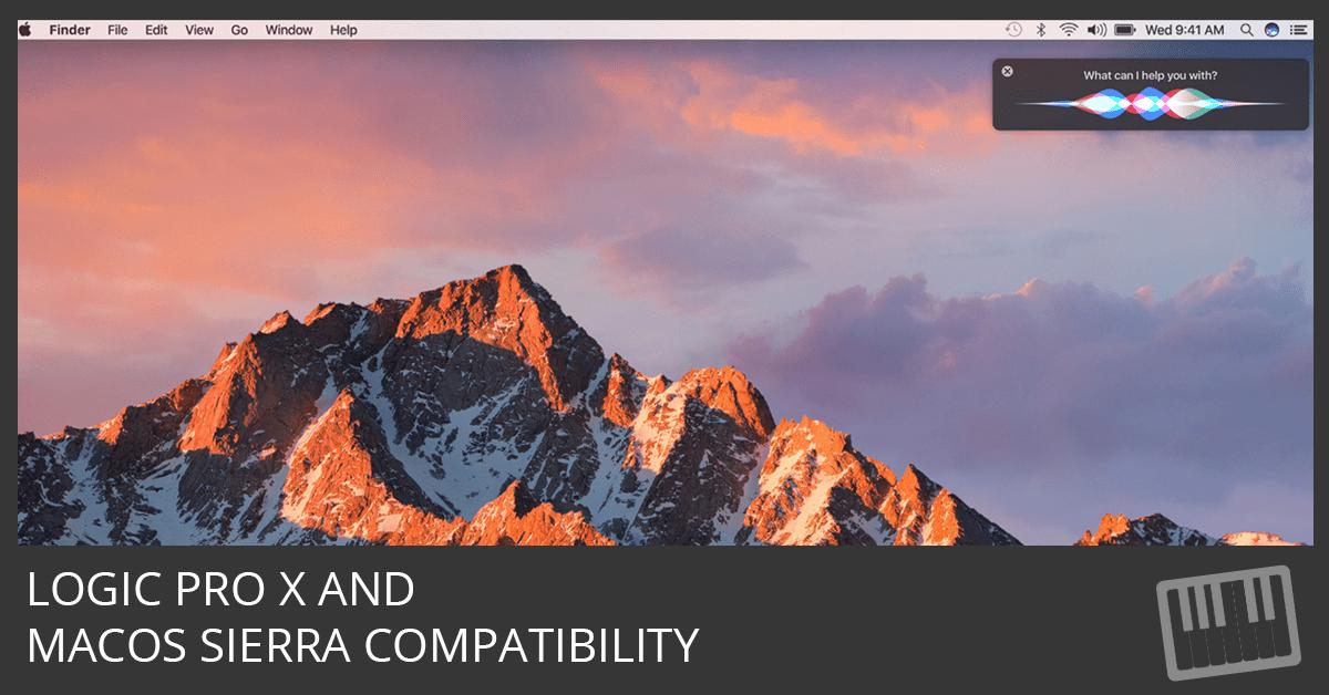 Logic Pro X and macOS Sierra