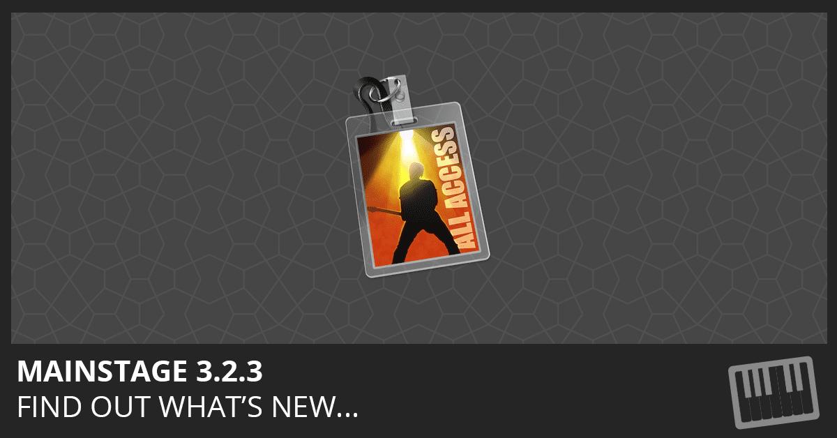 MainStage 3.2.3 Update