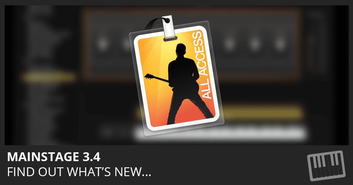 MainStage 3.4 Update