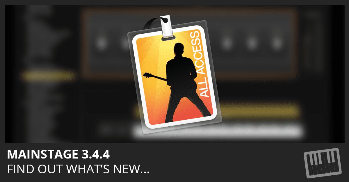 MainStage 3.4.4 Update