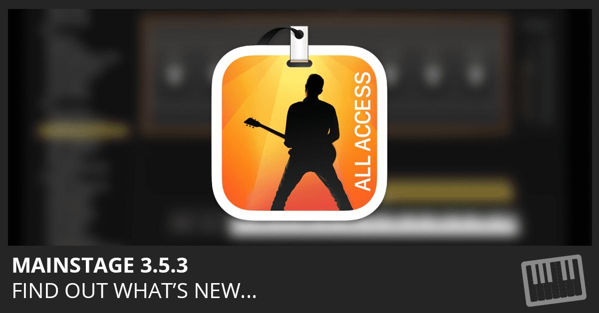 MainStage 3.5.3 Update