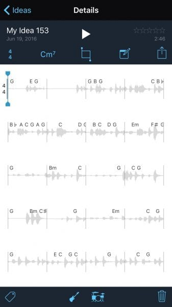 Music Memos Details Page